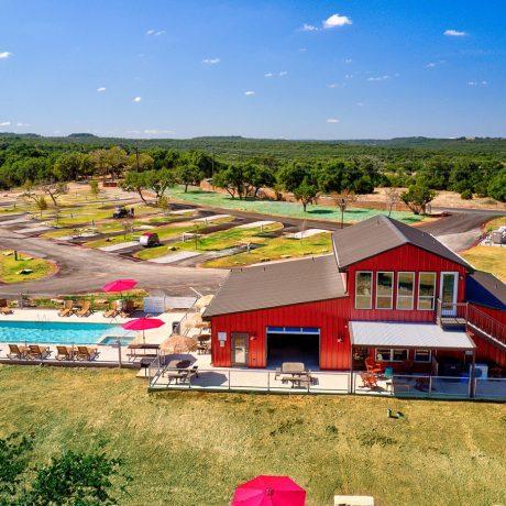 Buddys Backyard RV Resort Aerial View