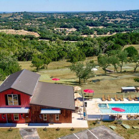 aerial view of Buddys Backyard RV Resort