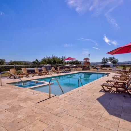 sparkling pool at Buddys Backyard RV Resort