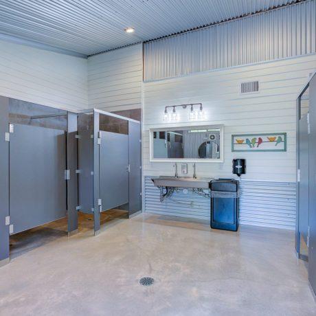 clean bathrooms at Buddys Backyard RV Resort